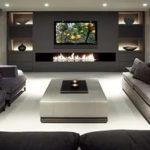 Дизайн гостиной комнаты с камином